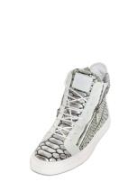 Guiseppe Zanotti Leather Zipped High Sneakers [695]